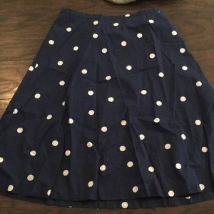 J Crew Polka Dot Skirt
